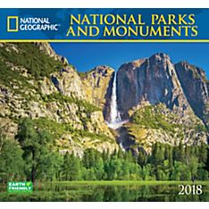 2018 National Geographic National Parks & Monuments Wall Calendar