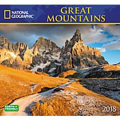 2018 National Geographic Great Mountains Wall Calendar