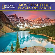 2018 National Geographic Most Beautiful Places on Earth Wall Calendar