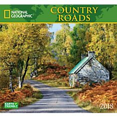 2018 National Geographic Country Roads Wall Calendar
