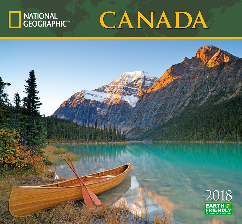 2018 National Geographic Canada Wall Calendar
