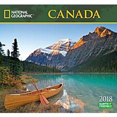 2018 National Geographic Canada Wall Calendar