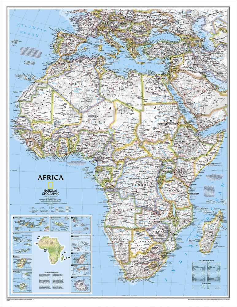 Africa Classic Wall Map, Enlarged