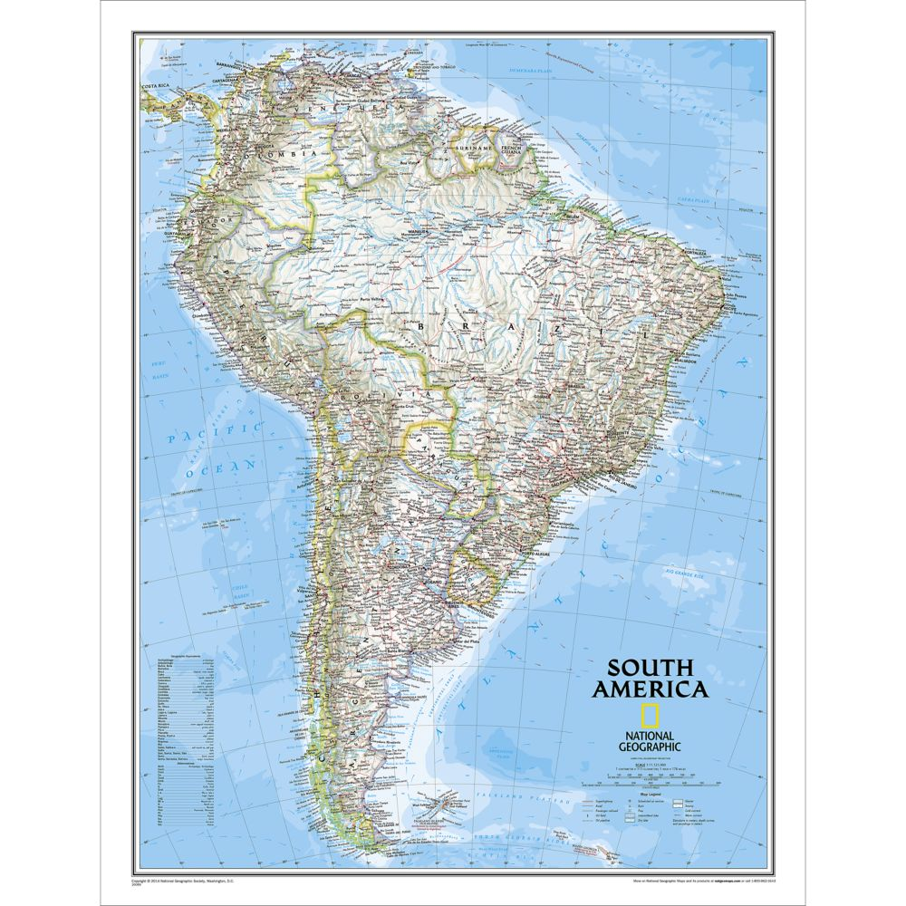 Argentina Adventure Map National Geographic Store - Argentina map to print