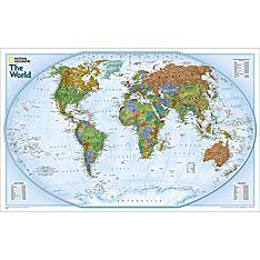 World Explorer Wall Map, Laminated