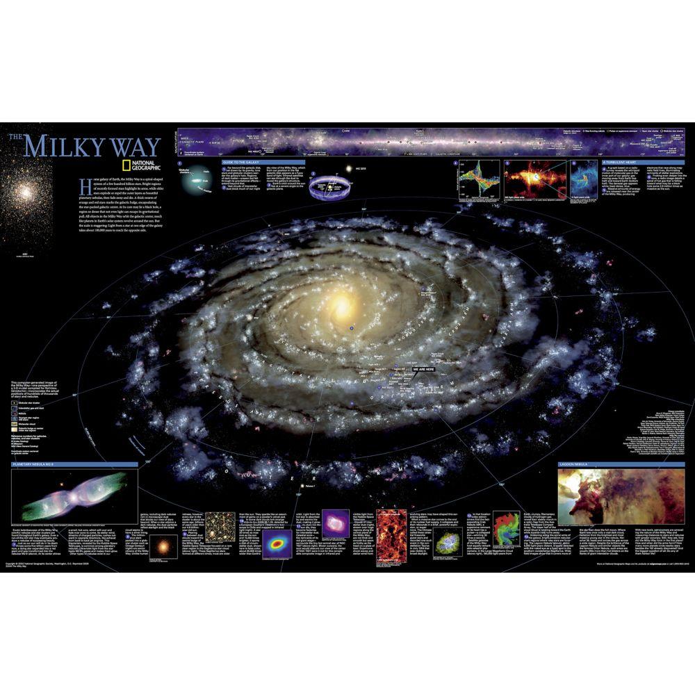 The Milky Way Wall Map, Laminated
