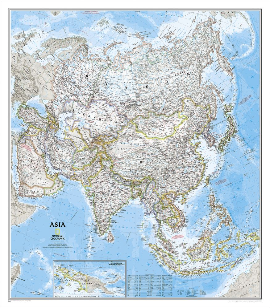 Southeast Asia Classic Wall Map National Geographic Store - Asia maps