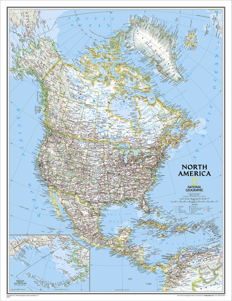 United States Classic Wall Map Enlarged National Geographic Store - Large laminated us map