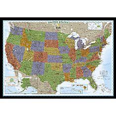 United States Decorator Wall Map, Laminated