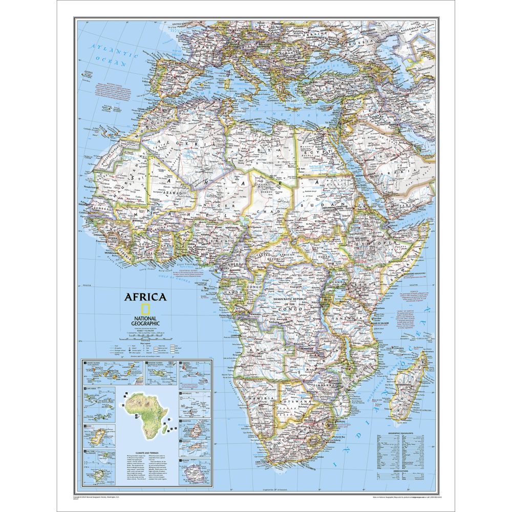 Africa Classic Wall Map