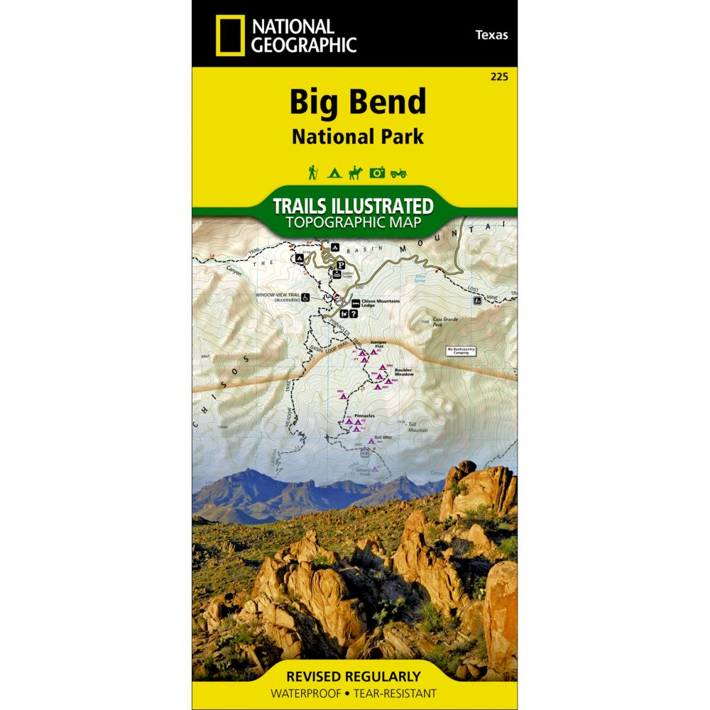225 Big Bend National Park Trail Map