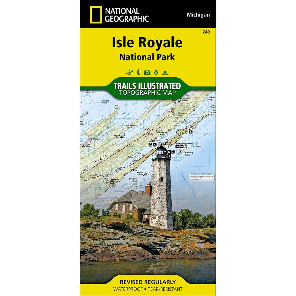 240 Isle Royale National Park Trail Map