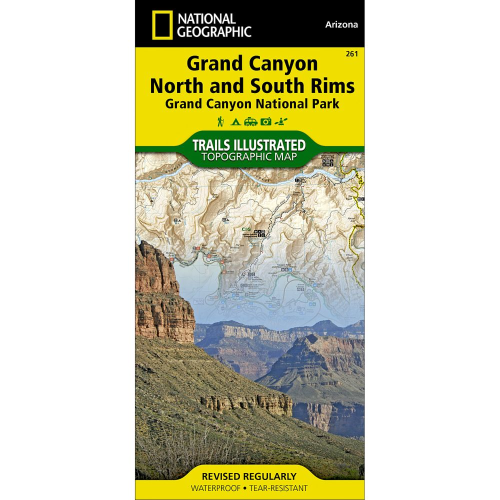 261 Grand Canyon, North and South Rims (Grand Canyon National Park) Trail Map