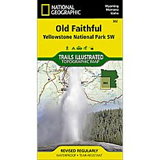 302 Old Faithful: Yellowstone National Park SW Trail Map