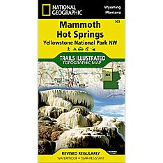 303 Northwest Yellowstone - Mammoth Hot Springs Trail Map