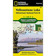 305 Yellowstone Lake: Yellowstone National Park SE Trail Map
