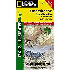306 Yosemite SW: Yosemite Valley and Wawona Trail Map