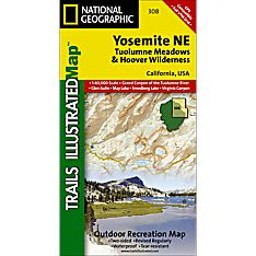 308 Yosemite NE: Tuolumne Meadows and Hoover Wilderness Trail Map
