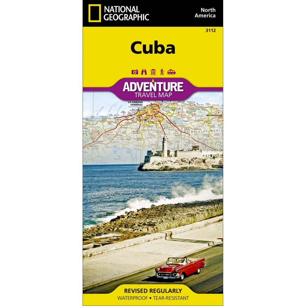 Cuba Classic Wall Map National Geographic Store - Us steel maps
