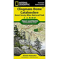 317 Clingmans Dome, Cataloochee: Great Smoky Mountains National Park Trail Map