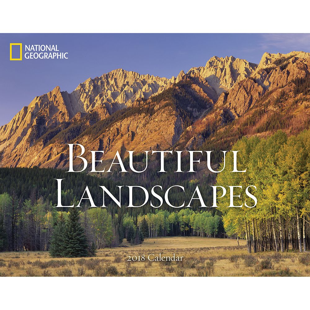 2018 National Geographic Beautiful Landscapes Wall Calendar