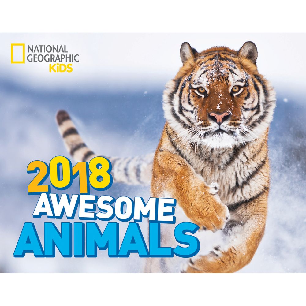 2018 National Geographic Awesome Animals Wall Calendar