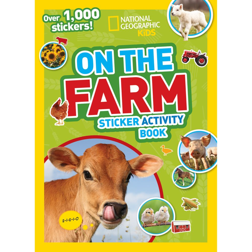 National Geographic Kids On the Farm Sticker Activity Book