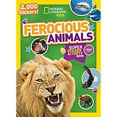 National Geographic Kids Ferocious Animals Super Sticker Activity Book
