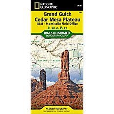 706 Grand Gulch, Cedar Mesa Plateau (BLM - Monticello Field Office) Trail Map