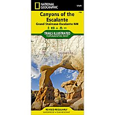 710 Canyons of the Escalante (Grand Staircase-Escalante National Monument) Trail Map