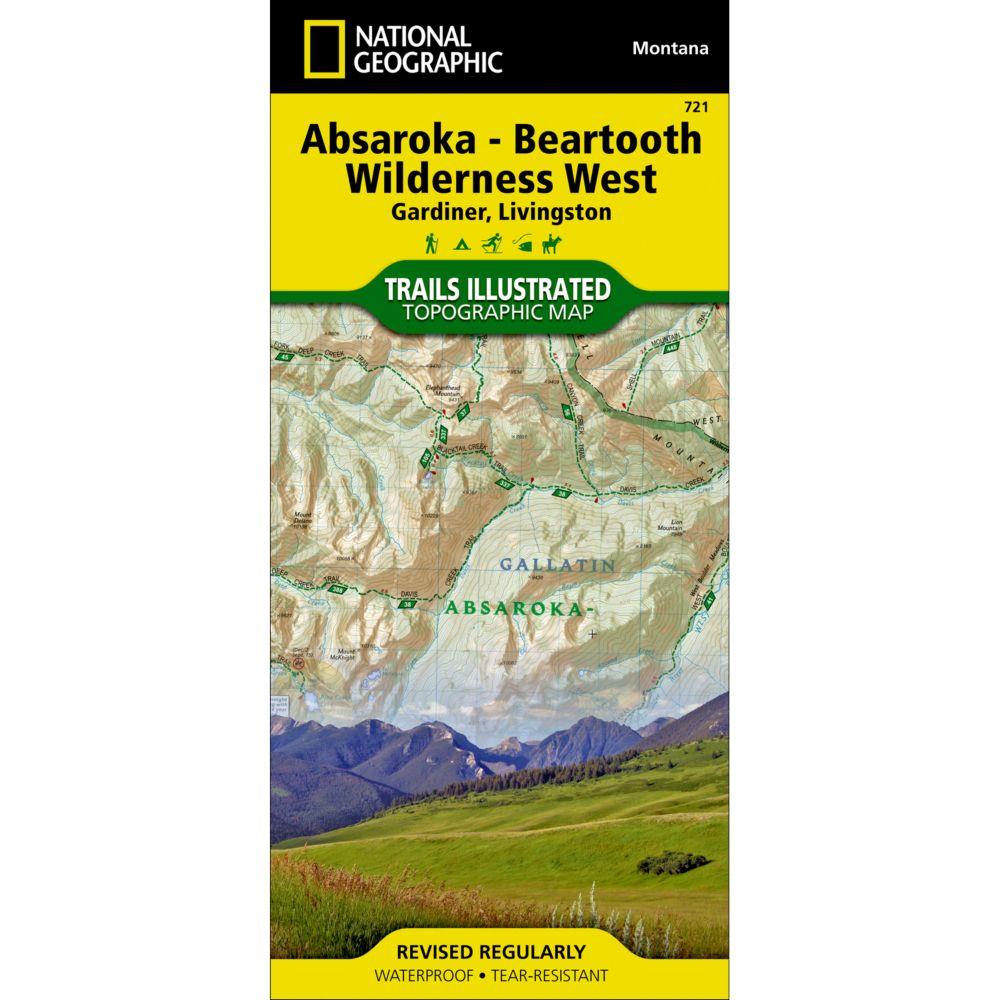 721 Absaroka-Beartooth Wilderness West (Gardiner, Livingston) Trail Map