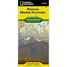 724 Missoula, Mission Mountains Trail Map