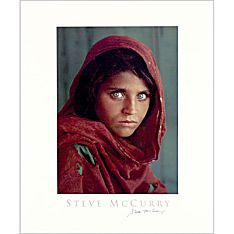 Signed National Geographic Afghan Girl Poster
