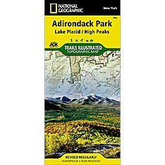 742 Lake Placid, High Peaks: Adirondack Park Trail Map