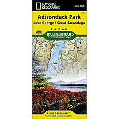 743 Lake George, Great Sacandaga: Adirondack Park Trail Map