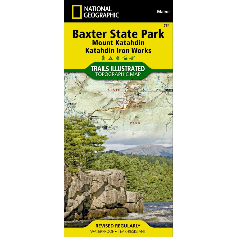 754 Baxter State Park (Mount Katahdin, Katahdin Iron Works) Trail Map