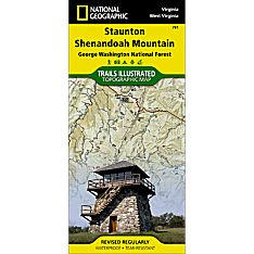 791 Staunton, Shenandoah Mountain (George Washington and Jefferson National Forests) Trail Map