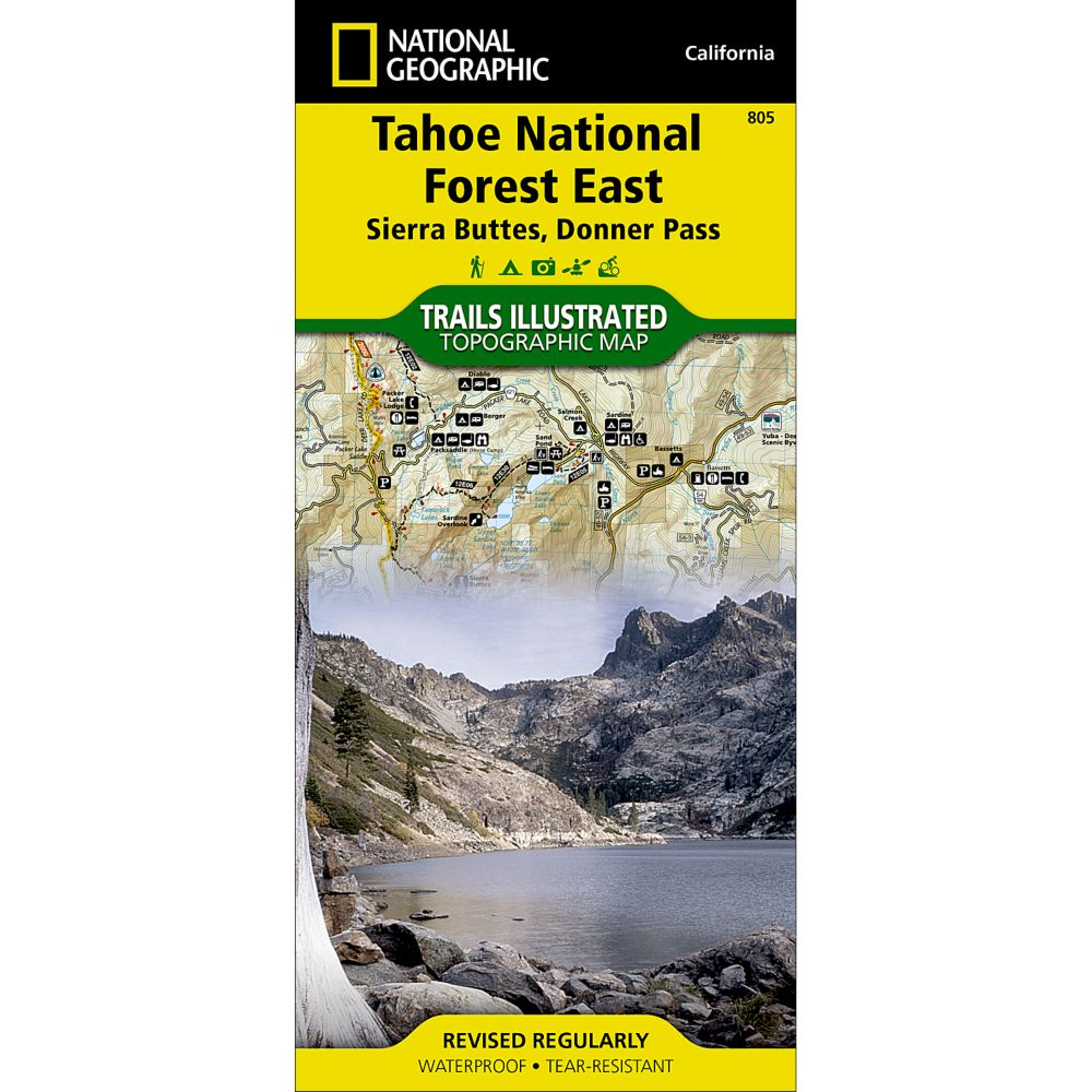 805 Tahoe National Forest East (Sierra Buttes, Donner Pass) Trail Map