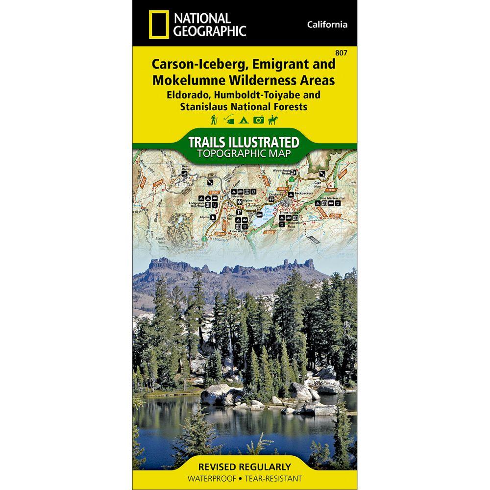 807 Carson-Iceberg, Emigrant, and Mokelumne Wilderness Areas (Eldorado, Humboldt-Toiyabe, and Stanislaus National Forests) Trail Map