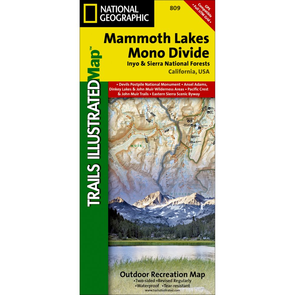 809 Mammoth Lakes, Mono Divide (Inyo and Sierra National Forests) Trail Map
