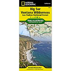 814 Big Sur, Ventana Wilderness (Los Padres National Forest) Trail Map