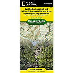823 Goat Rocks, Norse Peak and William O. Douglas Wilderness Areas (Gifford Pinchot, Mt. Baker-Snoqualmie, and Okanogan-Wenatchee National Forests) Trail Map
