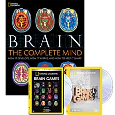 Brain Book and Brain Games DVDs Set