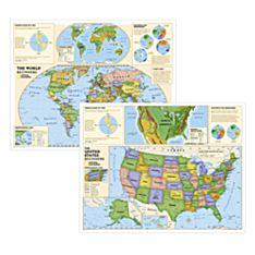 Beginners World and U.S. Education Maps (Grades K-3)