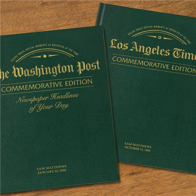''Remember When'' Commemorative Newspaper Books