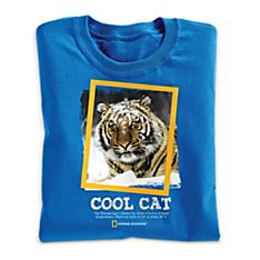 National Geographic Cool Cat Tiger T-Shirt