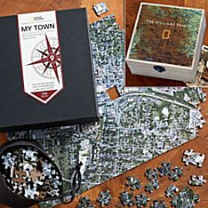 Nat Geo Keepsake Custom Aerial Puzzle Gift Set