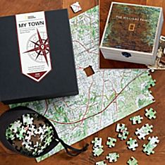 Nat Geo Keepsake Custom USGS Map Puzzle Gift Set