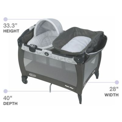 Graco pack n play playard with newborn napper assembly.