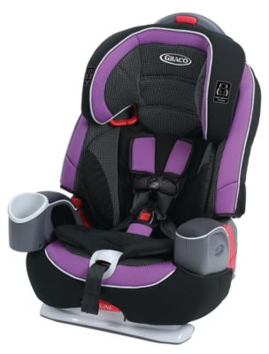 photo of Graco Nautilus® 65 LX 3-in-1 Harness Booster Car Seat - Purple/Black/Gray by Newell Brands – Baby & Writing